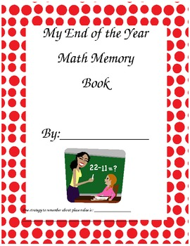 End of the Year Math Memory Book