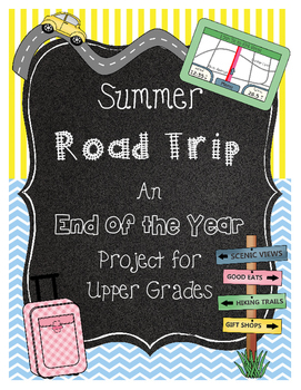 End of the Year Math Project for Upper Grades *Scranton* R