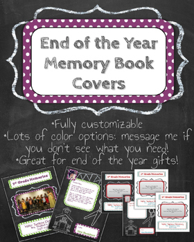 End of the Year Memory Book Custom Covers