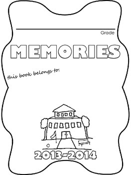 End of the Year Memory Book- FREEBIE!