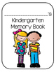 End of the Year Memory Book for Kindergarten