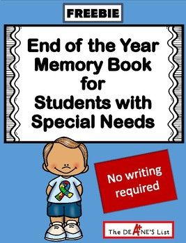Freebie: End of the Year Memory Book for Students with Spe
