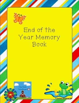 End of the Year Memory Book for Teachers
