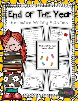 End of the Year Memory Book - reflection {writing activities}