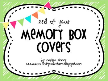 End of the Year Memory Box Covers