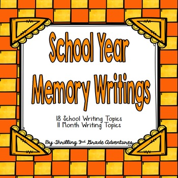 End of the Year Memory Writing Book