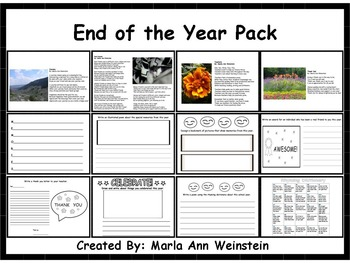 End of the Year Pack