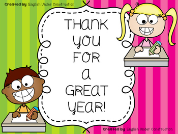 End-of-the-Year Printable Thank You Notes for Teacher Gift