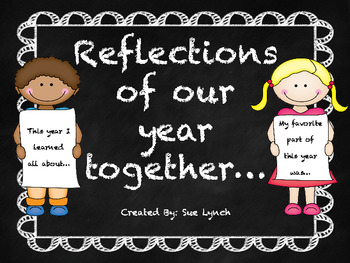 End of the Year Reflection Prompts~Whole Class activitiy