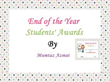 End of the Year Student Awards: