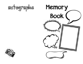 End of the Year Student Memory Book