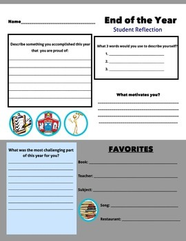 End of the Year: Student Reflection