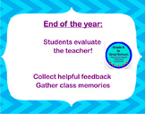End of the Year- Student evaluates the teacher