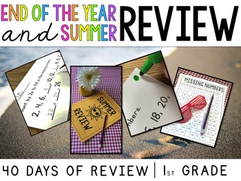 End of the Year & Summer Math Review {A Versatile Review B