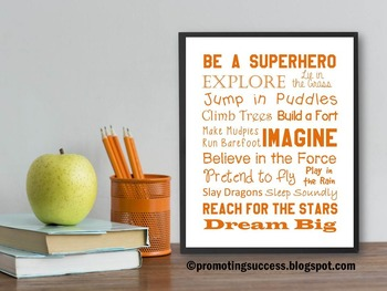 Be a Superhero Quote Poster for Kids & Teacher Classroom O