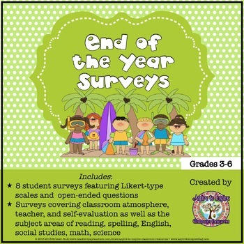 End of the Year Survey and Reflections Activity