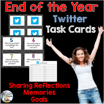 End of the Year Twitter Task Cards