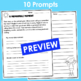 End of the Year Writing Prompts- Ready to Print and Write