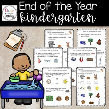 End of the year Kindergarten Science