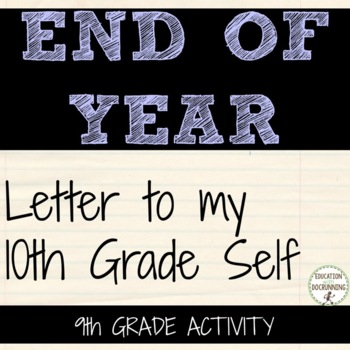 End of Year Self-Reflection Activities for 9th Grade