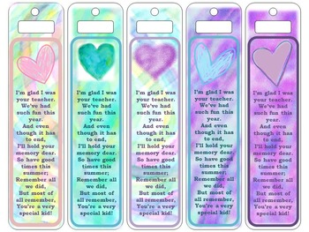 Last Day of School Bookmarks
