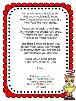 End of year letter to students (editable)