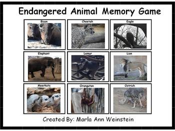 Endangered Animal Memory Game
