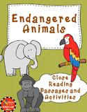 Endangered Animal Non Fiction No Prep Close Reading