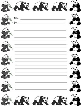 Endangered Species Writing Sheets (50)
