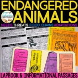 Endangered Animals Lapbook Interactive Kit