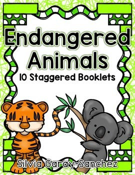 Endangered Animals Staggered Booklets