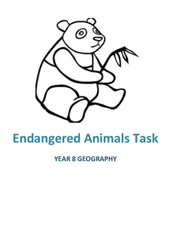 Endangered Animals Task Year 8 Geography