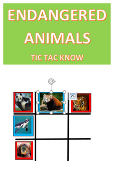 Endangered Animals Tic Tac KNOW