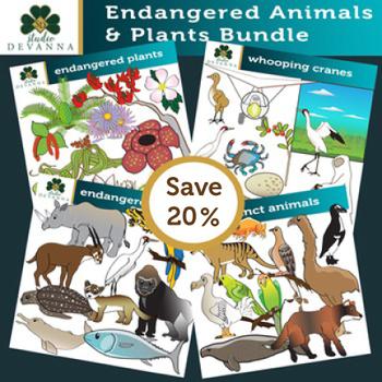 Endangered Animals and Plants Clip Art Bundle