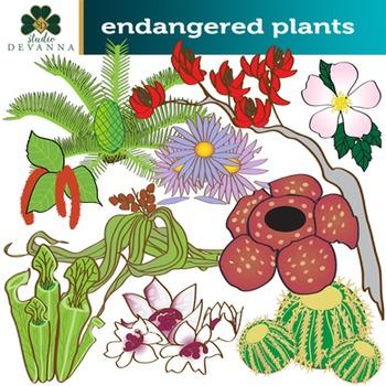 Endangered Plants Clip Art