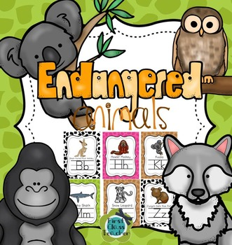 Endangered Animals A-Z Alphabet Poster Set