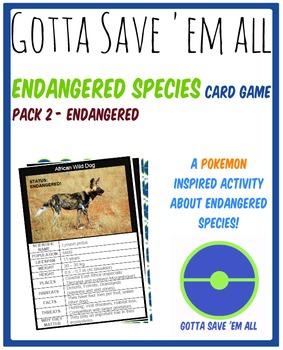 Endangered Species Card Game 2 - Gotta Save 'Em All