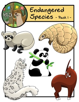 Endangered Species - Pack One - Clipart