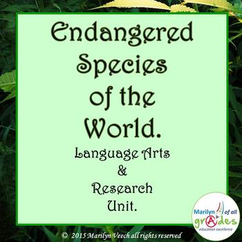 Endangered Species of The World. Research & Language