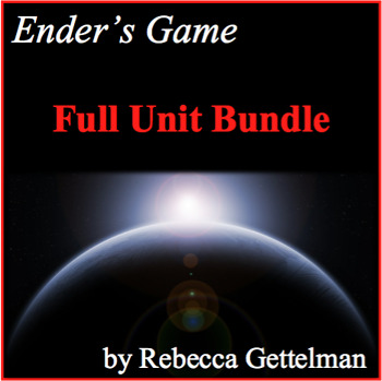 Ender's Game Full Unit Novel Study