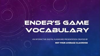 Ender's Game Vocabulary FREE Digital Flashcards EDITABLE