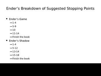 Ender's Game and Ender's Shadow Parallel Novels