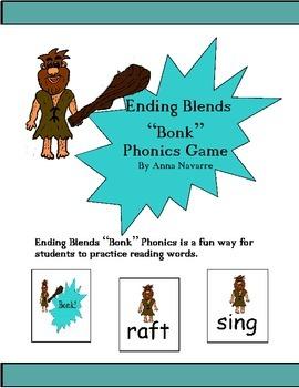 "Ending Blends ""Bonk"" Phonics Game"