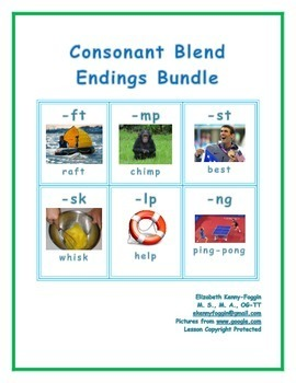 Ending Blends: Bundle of Multisensory Lessons