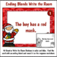 Ending Blends Write the Room Activity for Christmas