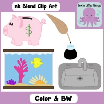 Ending Blends Clip Art: nk Blend clipart