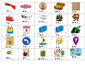 Ending Blends Floss BINGO Calling cards