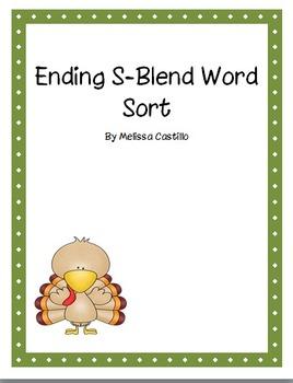 Ending Blends Sort