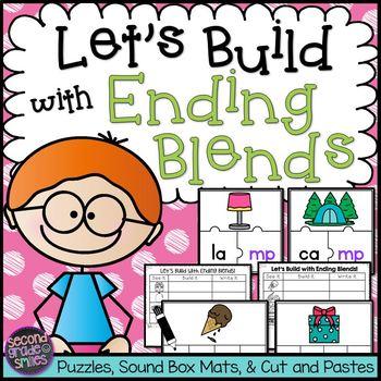Ending Blends Word Work (mp, ld, lf, lt, lk, ft)