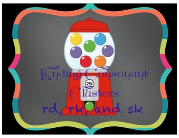 Ending Consonant Clusters - rd, rk, and sk